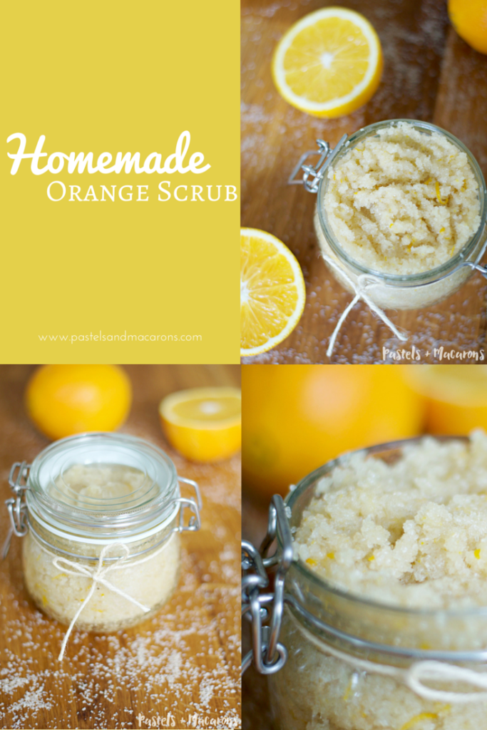 Homemade Orange Scrub by pastels & Macarons- Indulge your senses in this delicious sweet and warming body scrub. Leaves your skin feeling silky smooth.