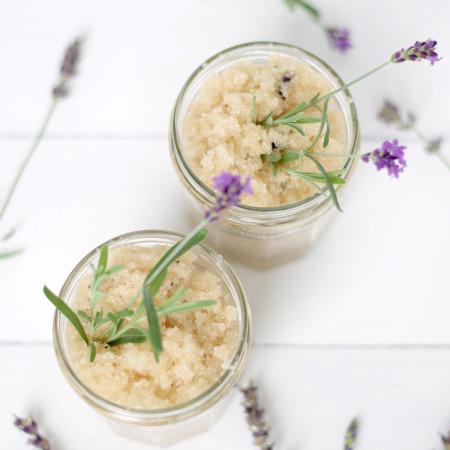 DIY Lavender Body Scrub