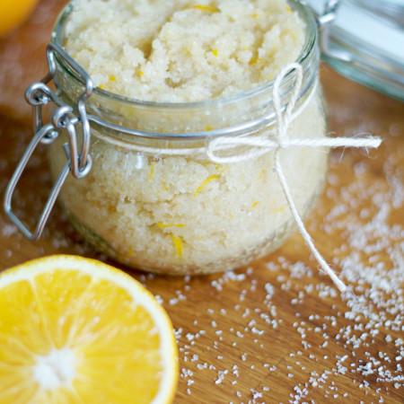 Homemade Orange Scrub