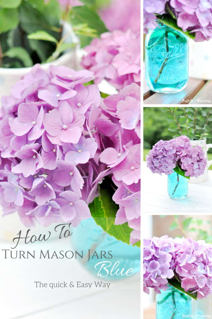how to turn mason jars blue pinterest jpeg