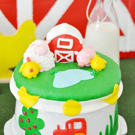 Farm Animal Theme Birthday Cake Recipe