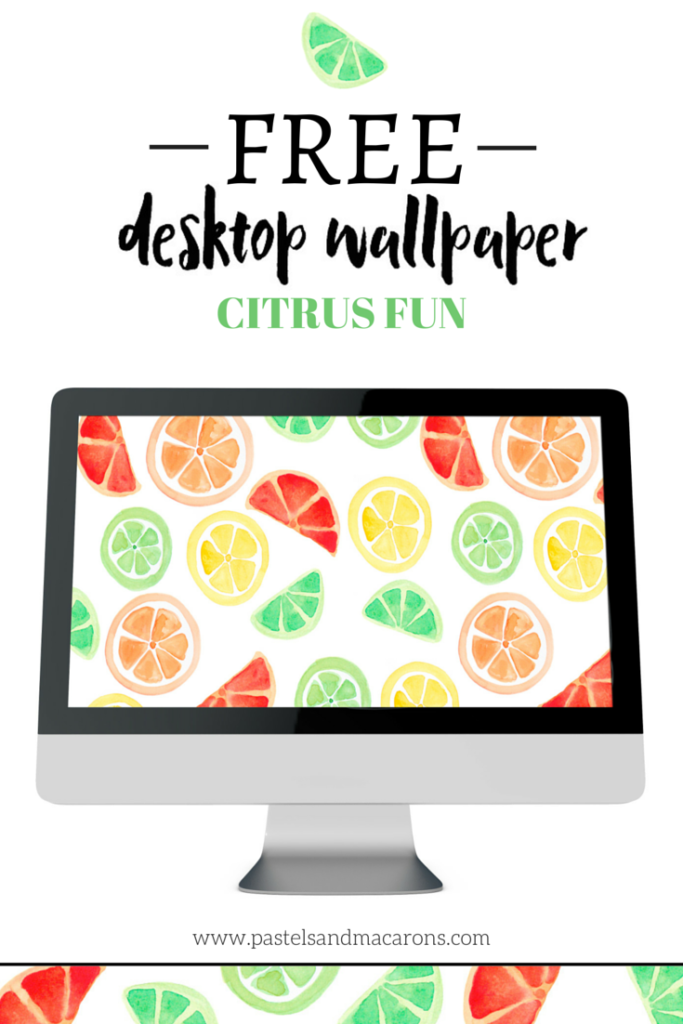 Free Desktop Wallpaper- Citrus Fun by Pastels & Macarons #free #freedesktopwallpaper #desktop #citruswallpaper #citrusdesktopwallpaper #watercolour #watercolourwallpaper #watercolourdesktopwallpaper
