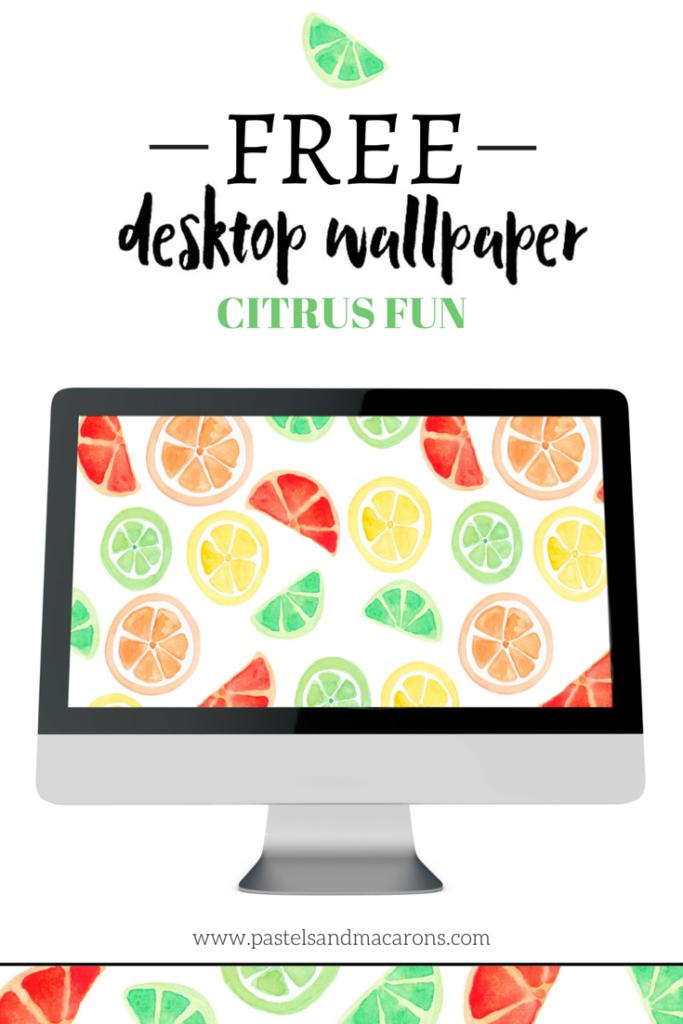 Free Desktop Wallpaper- Citrus Fun by Pastels & Macarons #free #freedesktopwallpaper #desktop #citruswallpaper #citrusdesktopwallpaper #watercolour #watercolourwallpaper #watercolourdesktopwallpaper