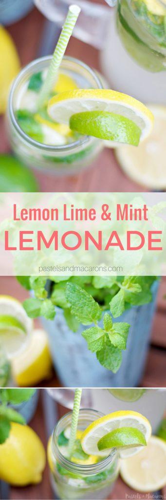 Lemon Lime & Mint Lemonade by Pastels & Macarons