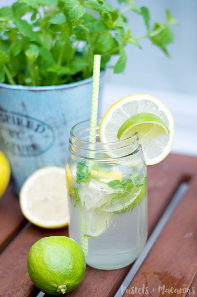 Lemon Lime And Mint Lemonade Recipe that is low-calorie