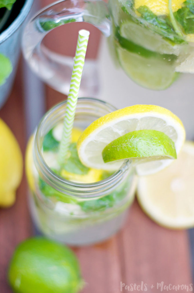 Make this Lemon Lime And Mint Lemonade Recipe. The perfect summer party drink!