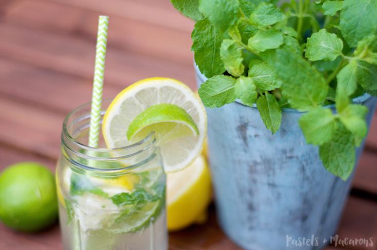 Yummy Lemon Lime And Mint Lemonade Recipe to keep you feeling refreshed! Perfect for when entertaining guests