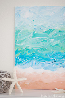 DIY Abstract Ocean Painting