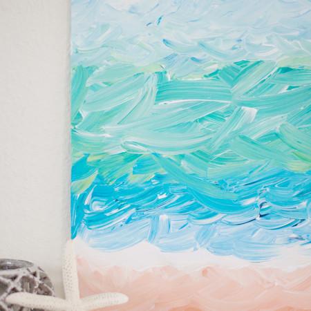 DIY Abstract Ocean Painting