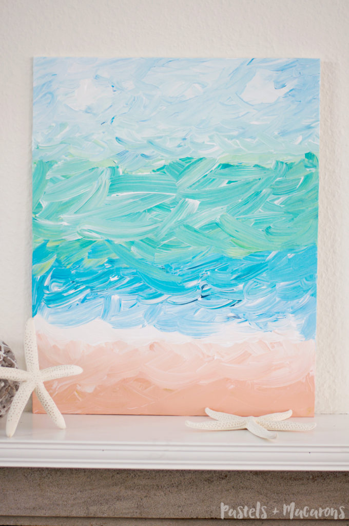 DIY Ocean Abstract Painting