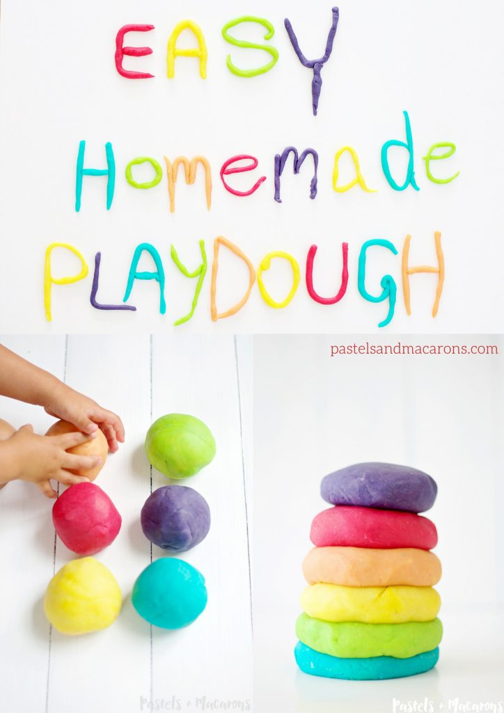 Easy Homemade Playdough Recipe by Pastels & Macarons