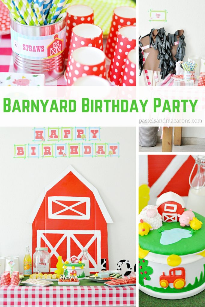 barnyard birthday party pastels and macarons