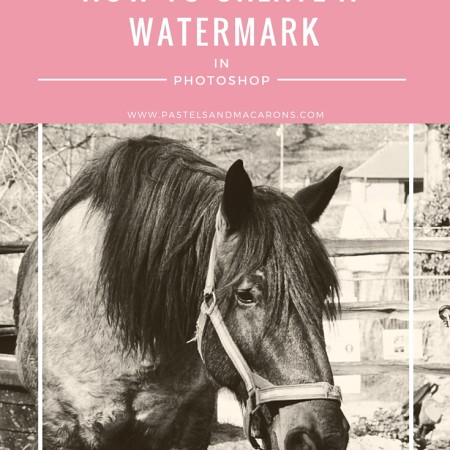 How To Create A Watermark In Photoshop by Pastels & Macarons. Easy to follow tutorial. #howtocreateawatermarkinphotoshop #tutorial #bloggin #bloggingtutorial #bloggingresources #photography