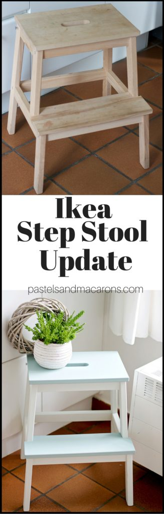 Turn your boring step stool into something fabulous with this Ikea Step Stool Makeover tutorial!