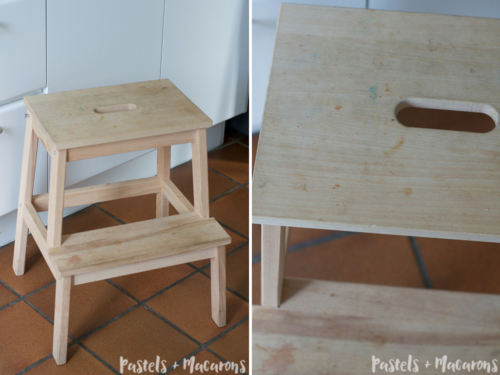 Sensational Ikea Step Stool Makeover Diy Tutorial That Is Simply Stunning Creativecarmelina Interior Chair Design Creativecarmelinacom