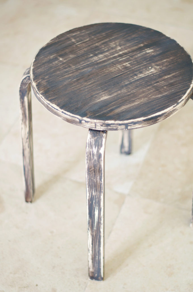 Ikea Frosta Stool Rustic Makeover