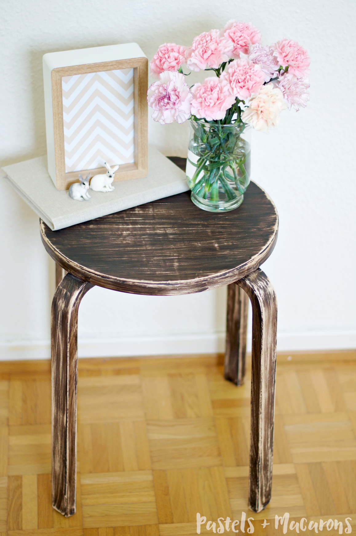 IKEA Frosta Stool Makeover by Pastels & Macarons