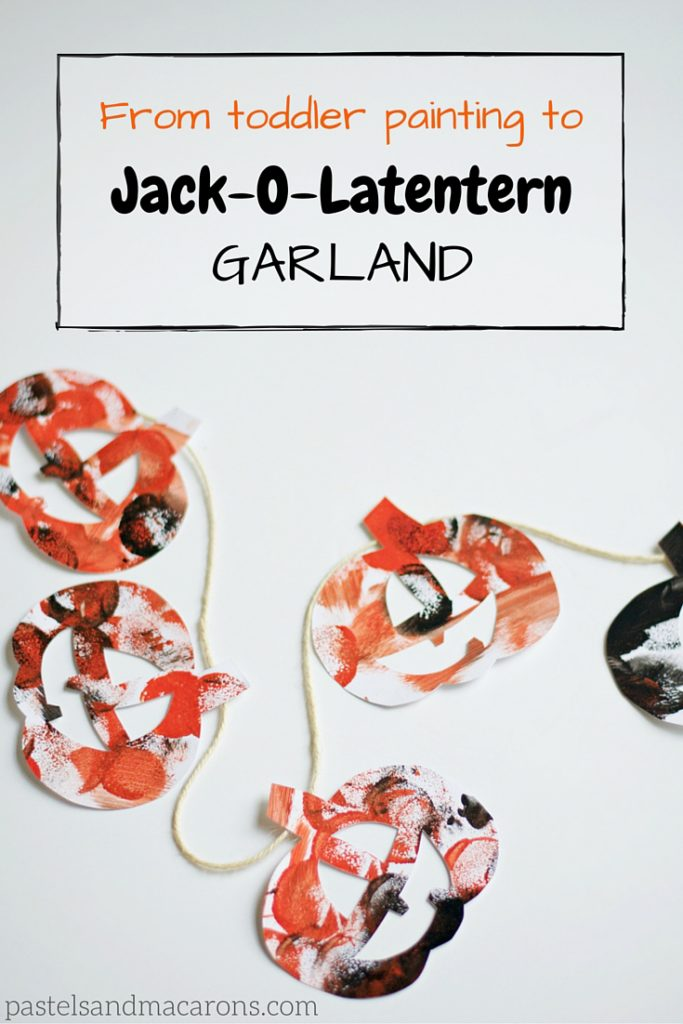 Halloween Jack-O-Lantern Garland #halloween #diy #craft #kidshalloweenactivities #kidshalloweencraft #jackolantern #fall #autumn