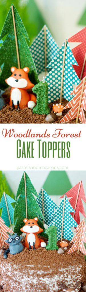 Woodlands Forest Cake Toppers by Pastels & Macarons #woodlands #woodlandstheme #forestcake #foresttheme #birthdaycake #firstbirthdaycake #woodlandsbirthdaycake #diy #craft #caketoppercraft #diycaketopper #diywoodlandscaketopper #woodlandsforestcaketoppers #papercraft #kidsbirthdayparty #kidsbirthdaypartyinspiration