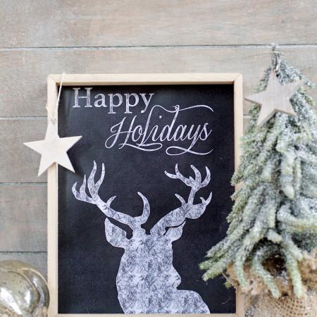 FREE Christmas Chalkboard Printable