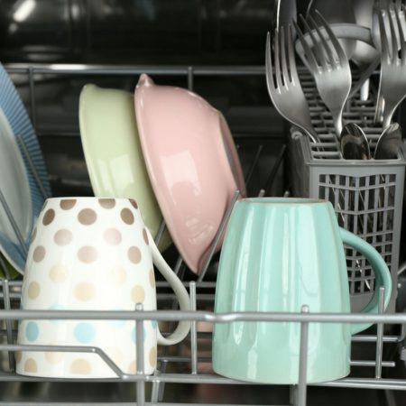 Learn How To Clean A Dishwasher easily and effectively. This method deep cleans and it's very cost effective!