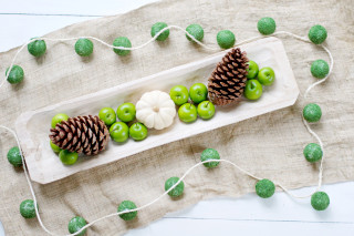 DIY Faux Moss Ball Garland