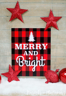 FREE Plaid Christmas Printable