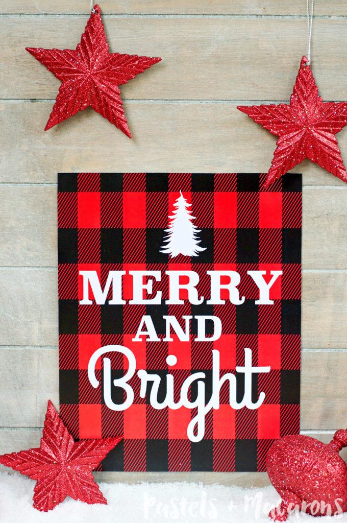 FREE Plaid Christmas Printable