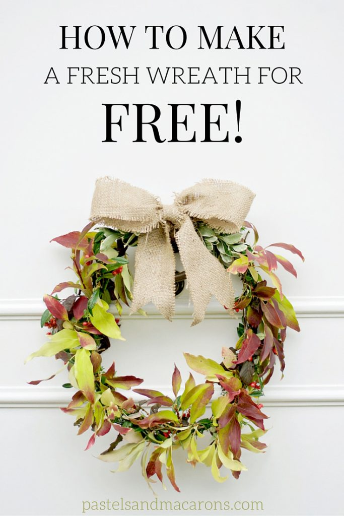Learn how to make a fresh wreath for free! This is such a great and frugal DIY!