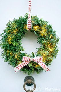 How To Make A Faux Boxwood Wreath That Lights Up