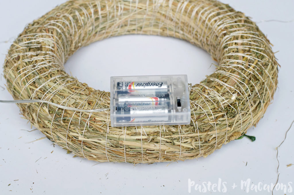 How To Make A Faux Boxwood Wreath That Lights Up #christmas #fauxboxwoodwreath #boxwoodwreath #diyboxwoodwreath #christmaswreath #howtomakeaboxwoodwreaththatlightsup #diy #craft #christmascrafts #christmasdiy #handmadeboxwoodwreath