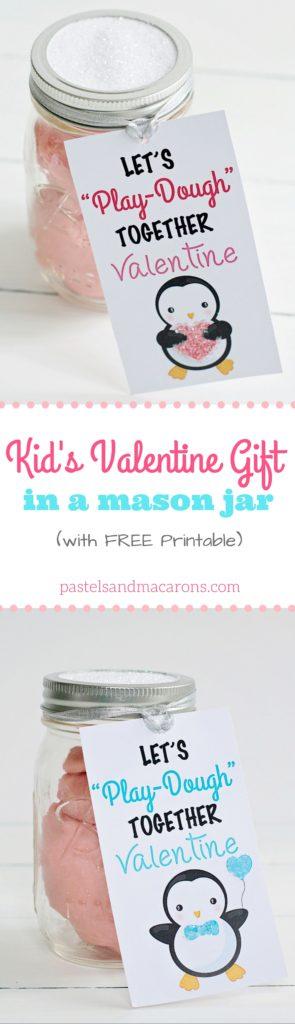graphic regarding Printable Kid Valentine identified as Children Valentine Reward In just A Mason Jar With Cost-free Printable