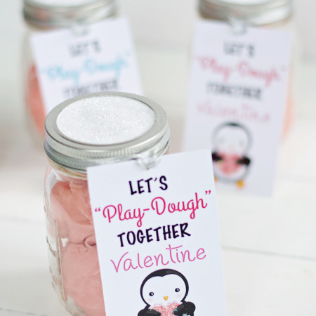 Kids Valentine Gift In A Mason Jar With Free Printable