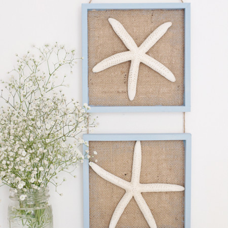 Gorgeous DIY Starfish Wall Art Decor