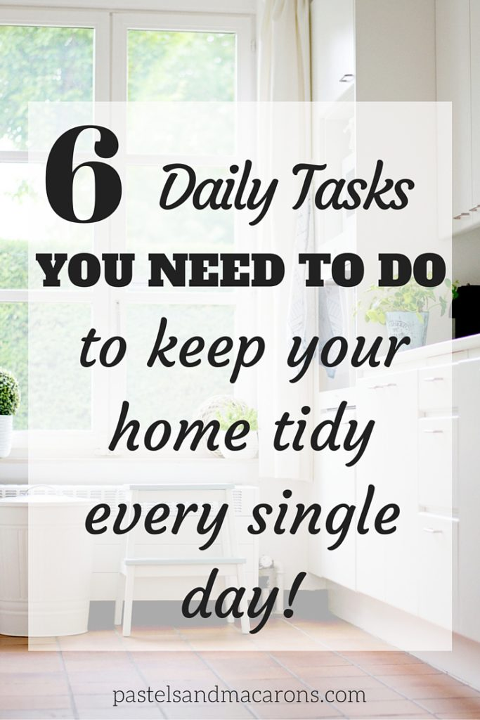 6 Organizing And Cleaning Tips To Keep Your Home Tidy Everyday. With these simple steps you will be in your way to having a more organized home.