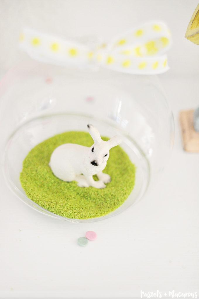 Pretty Pastel Easter Mantel Vignette