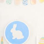 Pastel Easter Mantel Vignette