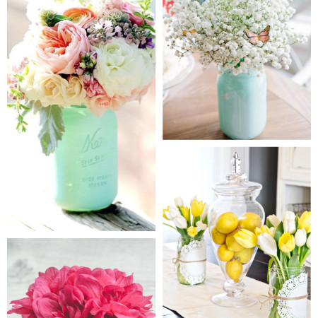 Mason Jar Ideas using flowers- 12 Gorgeous DIY's