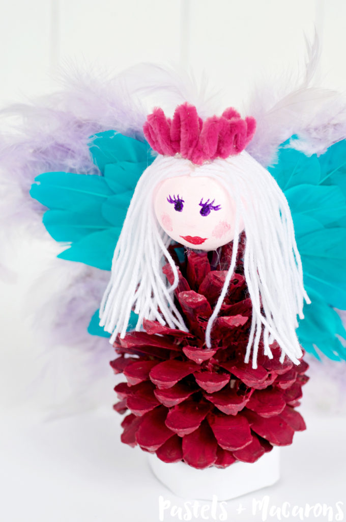 We loved making this Fairy Princess Pinecone Kids Craft . The perfect rainy weather activity for kids or a sweet craft for Valentines Day.
