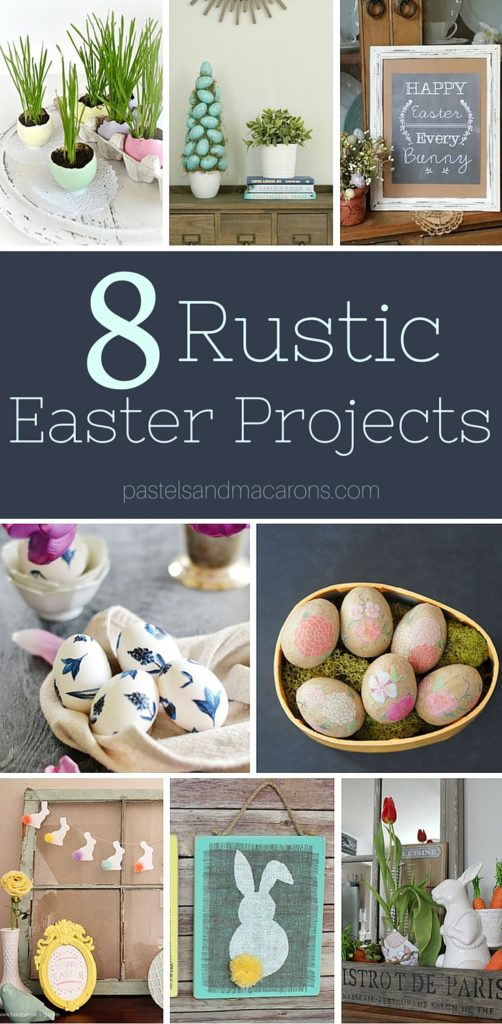 These gorgeous rustic Easter crafts & DIY's will finish off any room and give it a farmhouse/rustic finish. Love these beautiful projects!