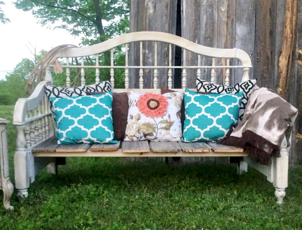 Diy Headboard Upcycled Bench A Rustic Inspired Project