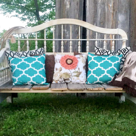 DIY Headboard Upcycled Bench- A Rustic Inspired Project!