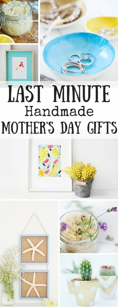 If you need last minute Mothers Day gift ideas then we have you covered! All easy and affordable DIY's you can easily make!
