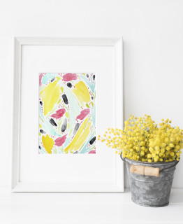 Watercolor Hand Painted Abstract Floral Art- Free Downloadable Printable