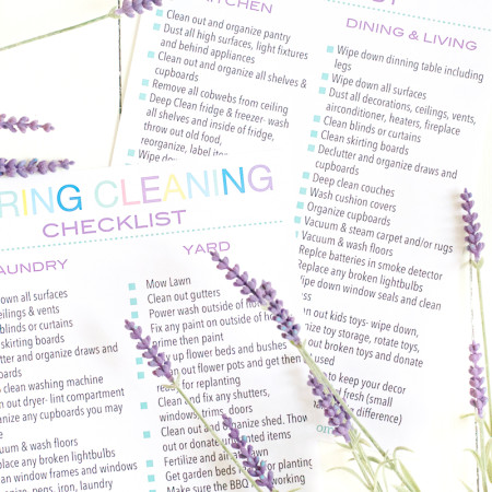 Clean your house this Spring with The Ultimate Spring Cleaning Check List. A five page list that will have you cleaning every inch of your home!