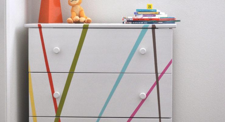 Ikea Tarva Dresser Makeover for Kids Room