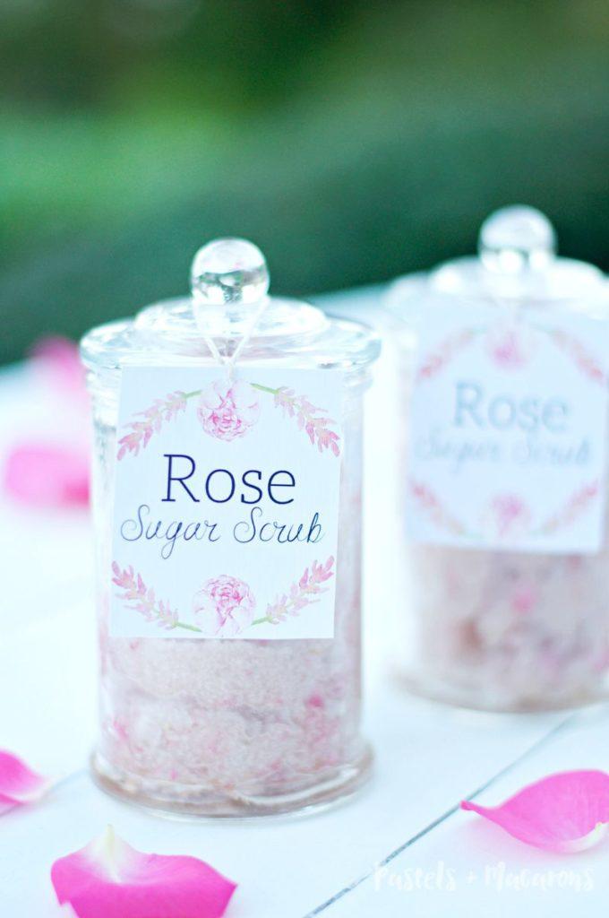 Delicious Rose Homemade Sugar Scrub