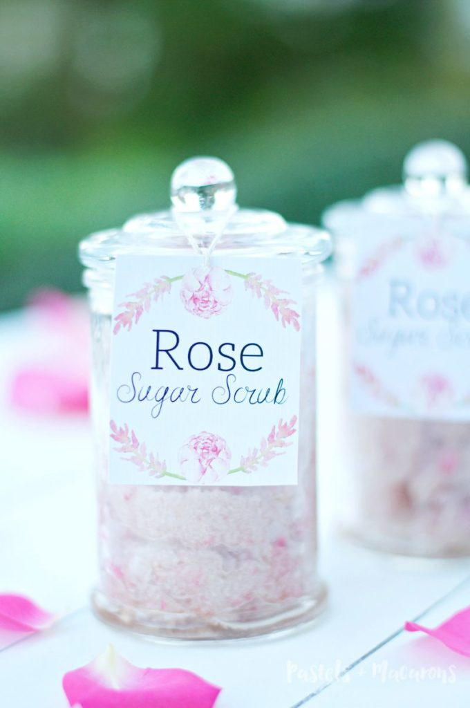 Rose Homemade Sugar Scrub Recipe. Makes the perfect gift