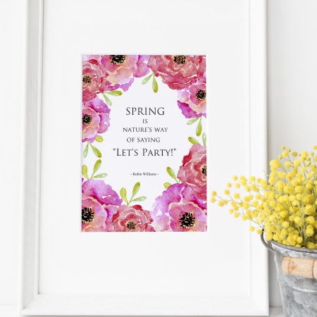Download your Free Floral Spring Art Print .