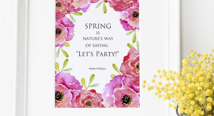 Floral Spring Art Print- Free Download
